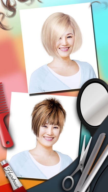 Change your look editor with hairstyles