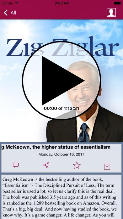 Zig Ziglar Inspire review screenshots