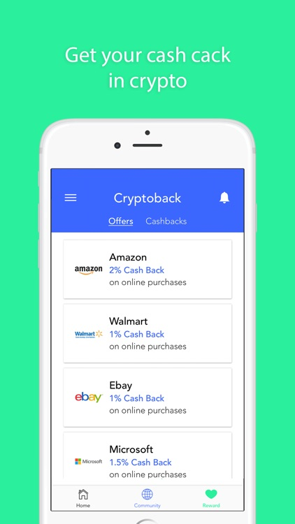 Coinseed - Crypto Cash Back