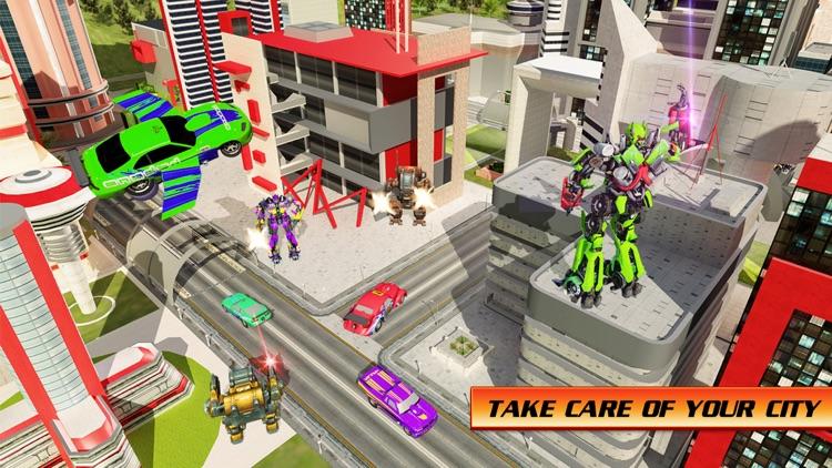 Flying Car War Hero Robot screenshot-4