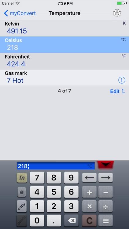 myConvert - unit converter screenshot-3