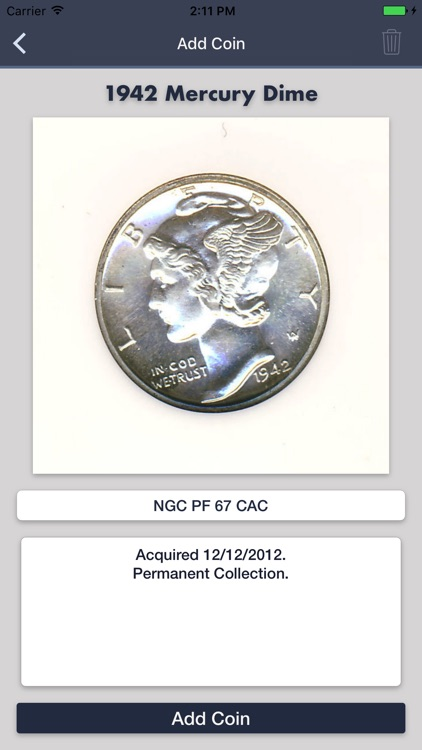 Mercury Dimes - Coin Guide & Collectoin Tracker screenshot-4