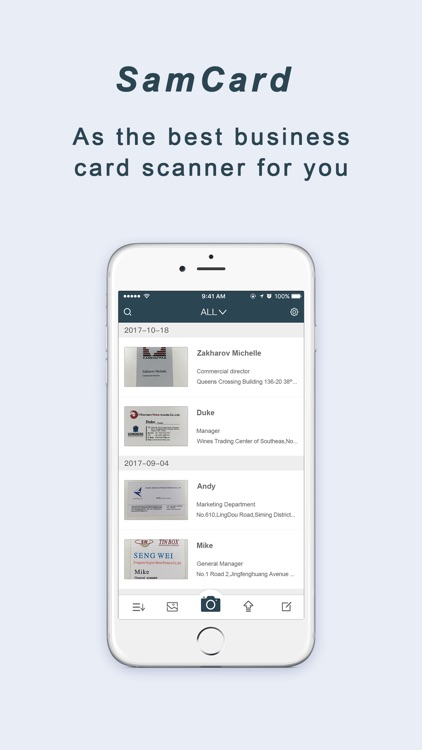 Samcard-business card scanner screenshot-1
