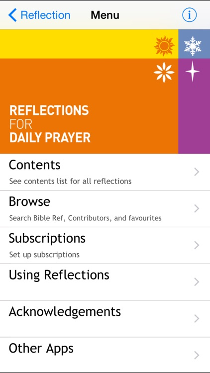 Reflections for Daily Prayer screenshot-0