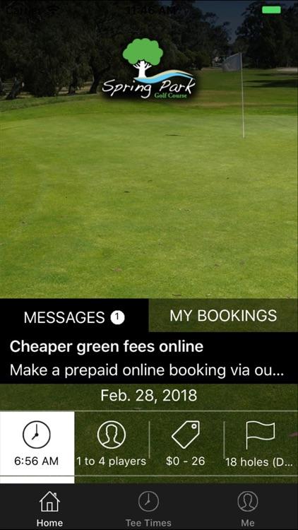 Spring Park Golf Tee Times
