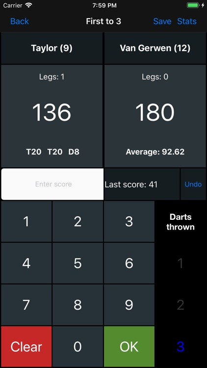 Darts Scoreboard X01 screenshot-2