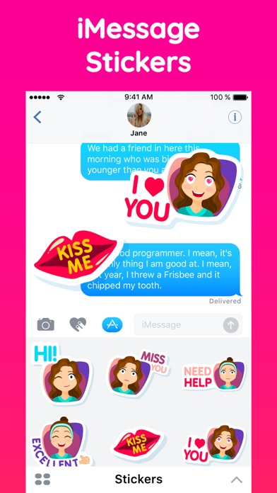 Fiona the Sassy Girl Stickers screenshot two