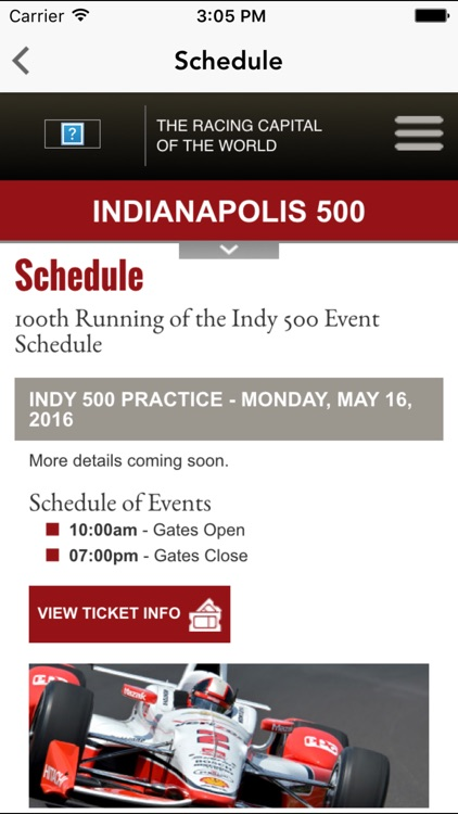 Indy 500 Racing News
