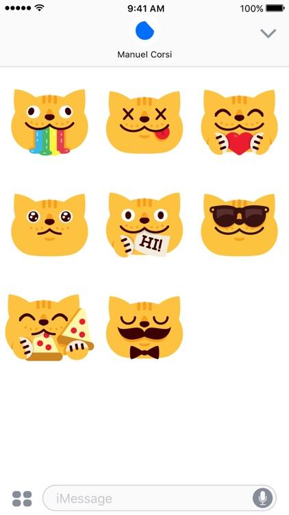 Chubby Cat - iMessage Stickers screenshot-3
