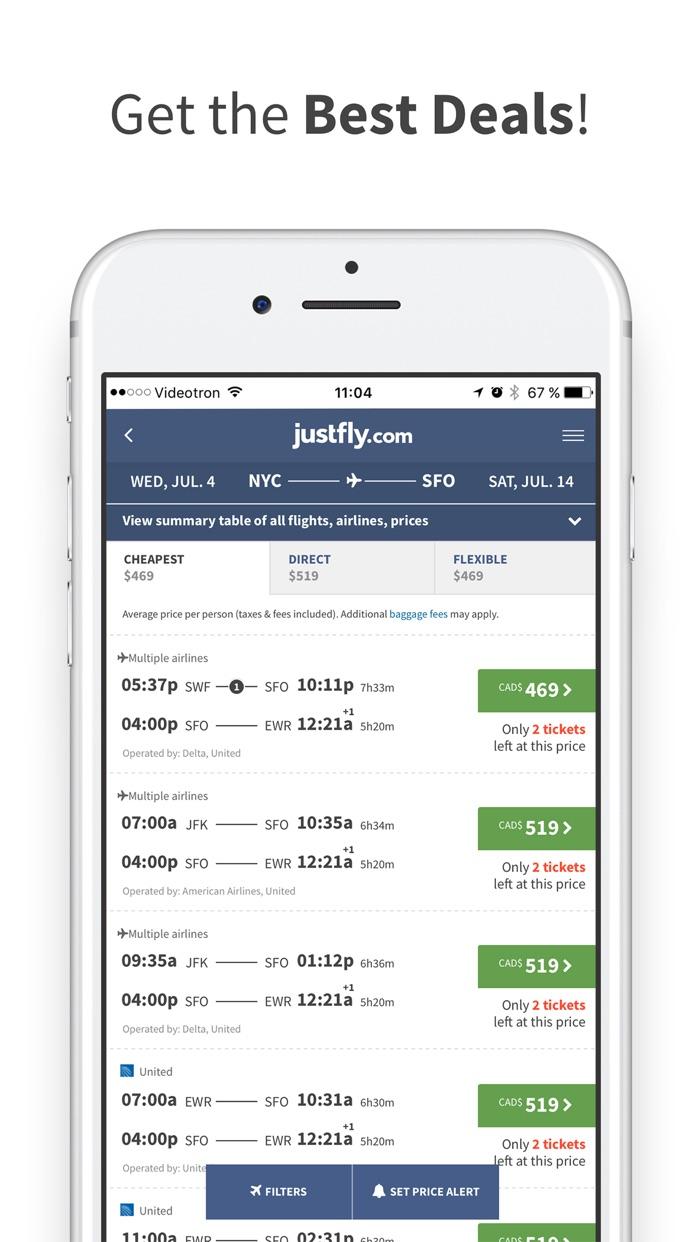Justfly.com Screenshot