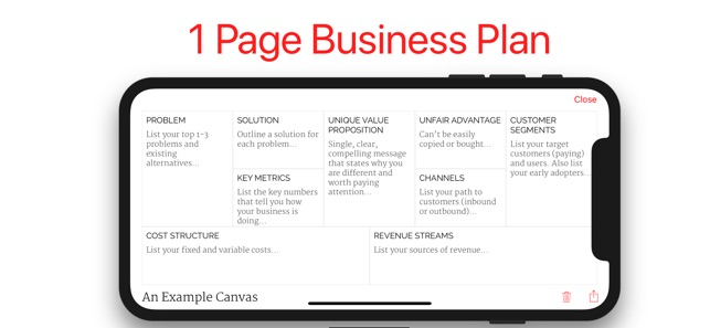 lean business plan template