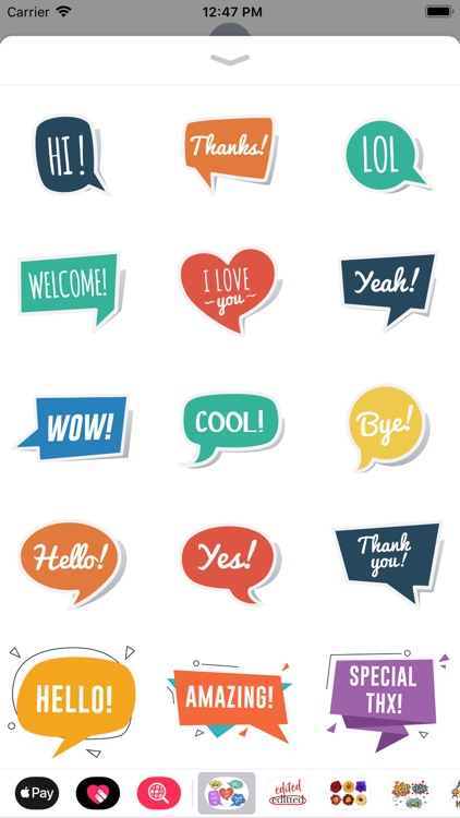 Speech Bubble Sticker Set