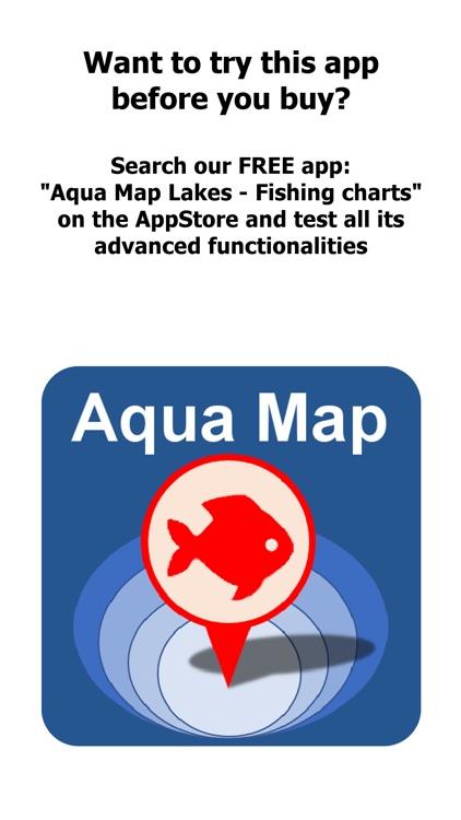 Aqua Map North Dakota Lakes HD screenshot-0