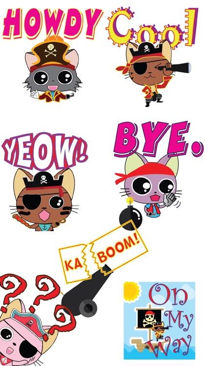 Pirate Kitties Stickers
