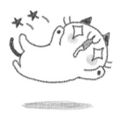 Pencil Cute Cat Sticker
