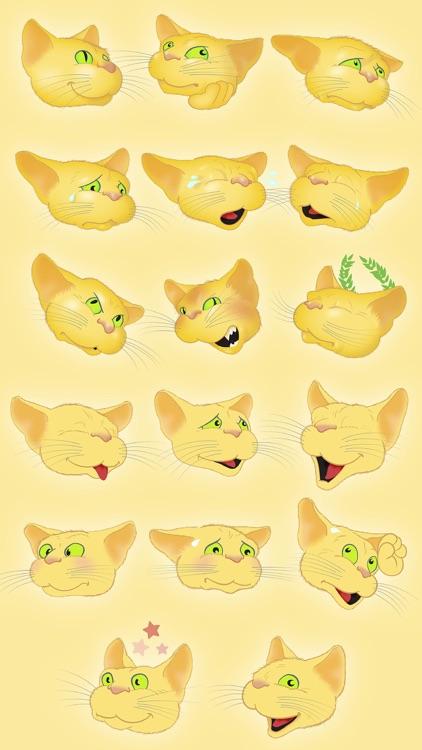 Yellow Cat emoji screenshot-3