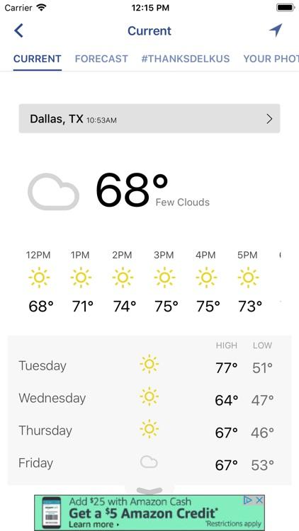 WFAA-North Texas News, Weather screenshot-3