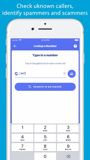 Lookup A Number >> Number Finder Reverse Lookup On The App Store