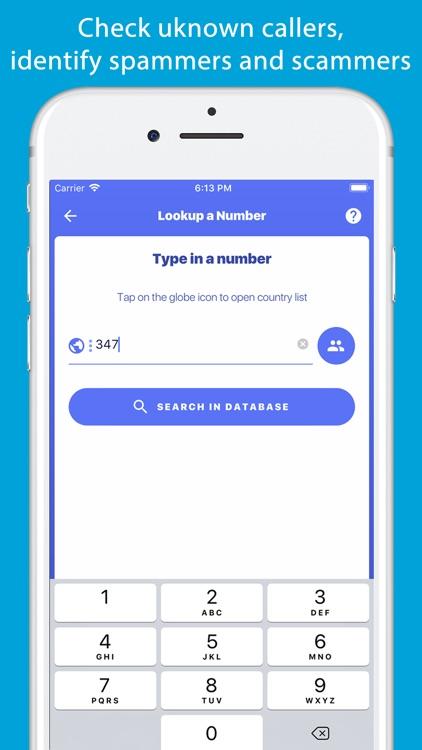 Number Finder - Reverse Lookup