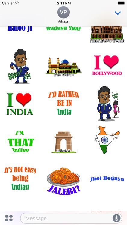 Desi Stickers for iMessage screenshot-1