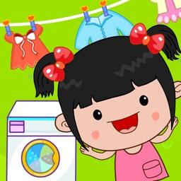 丫丫洗衣服:启蒙早教,丫丫过家家,儿童游戏