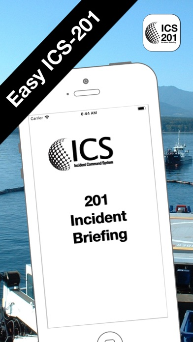 ICS-201 Incident Briefing ScreenShot0