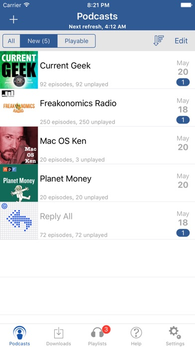 iCatcher podcast app Screenshot 1