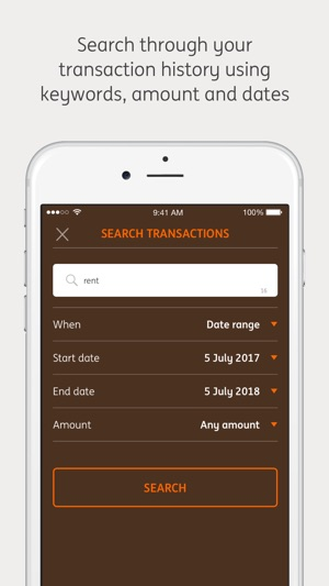 The free and secure ING banking app for smartphones