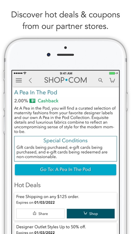SHOP.COM Mobile -Earn Cashback screenshot-3
