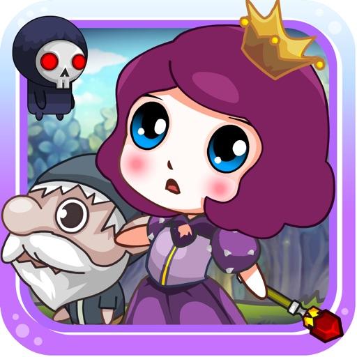 Magic princess saves dwarv