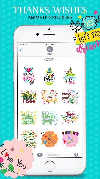 Animated Wishes Stickers Pack