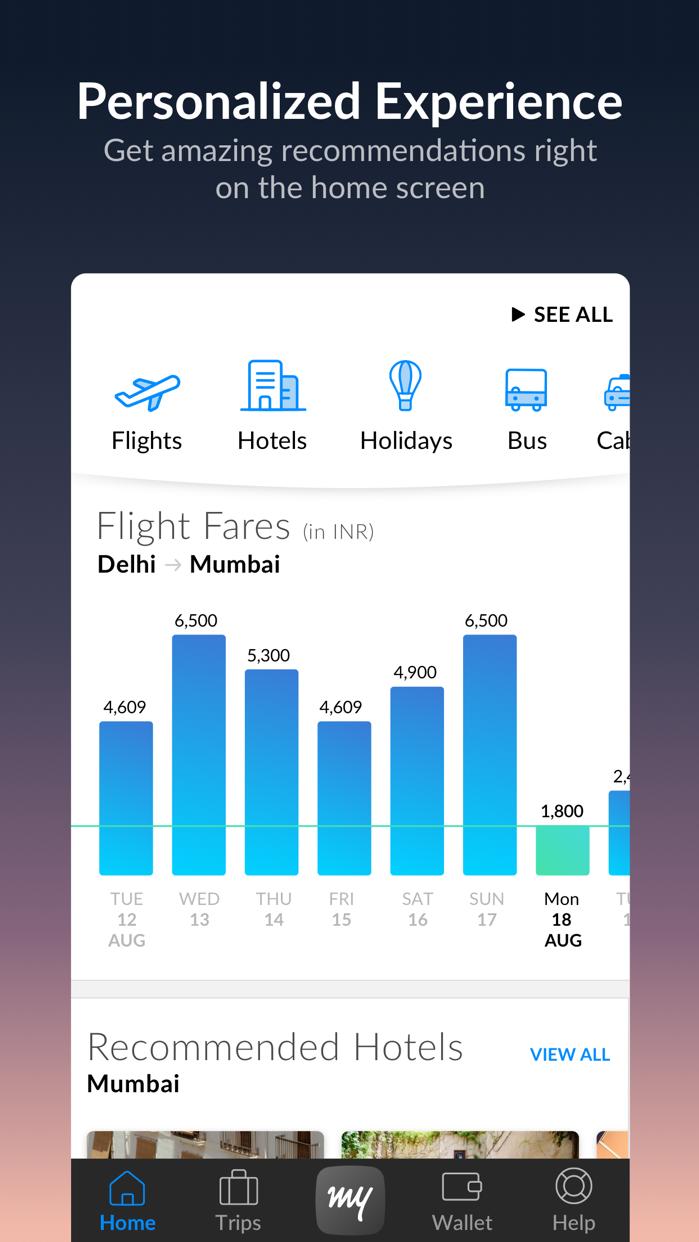 MakeMyTrip - Flights, Hotels Screenshot