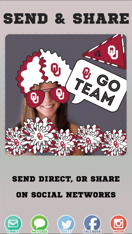 Oklahoma Sooners Selfie Stickers screenshot-3