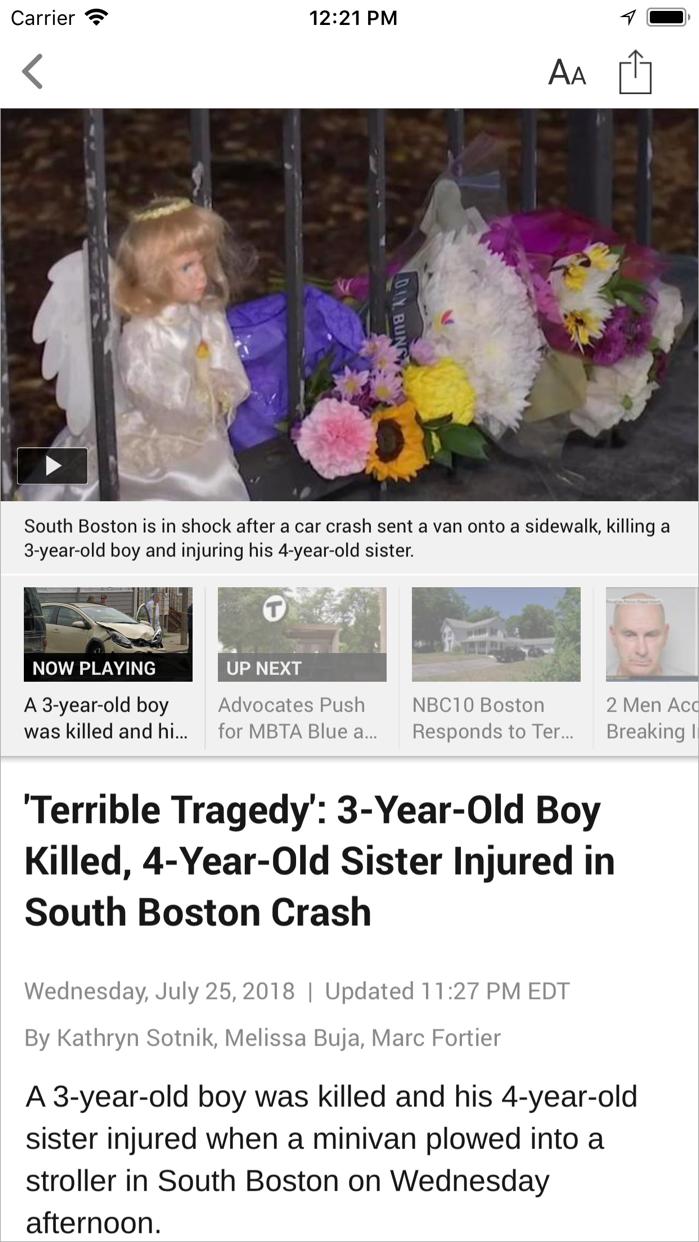 NBC10 Boston Screenshot