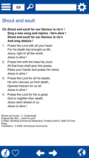 Songbook : He is alive !