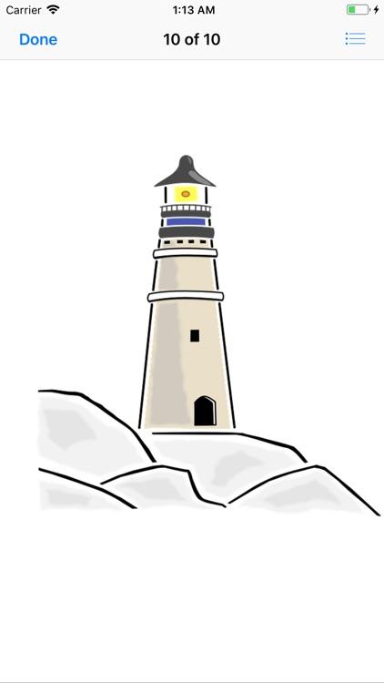 Lighthouse Stickers screenshot-9