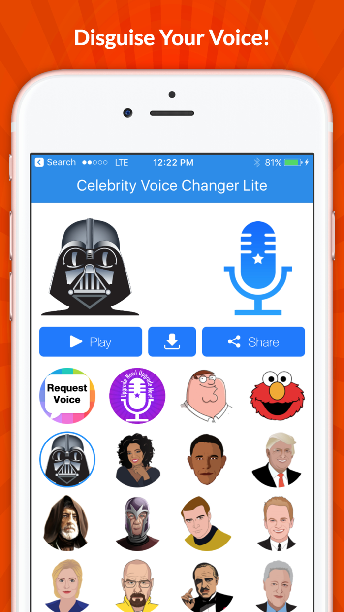 Celebrity Voice Changer -Emoji Screenshot