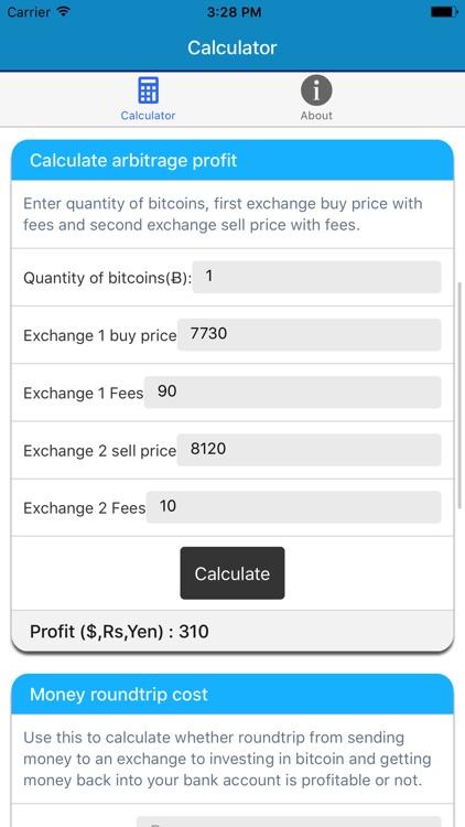 Bitcoin Price Calculator screenshot-3
