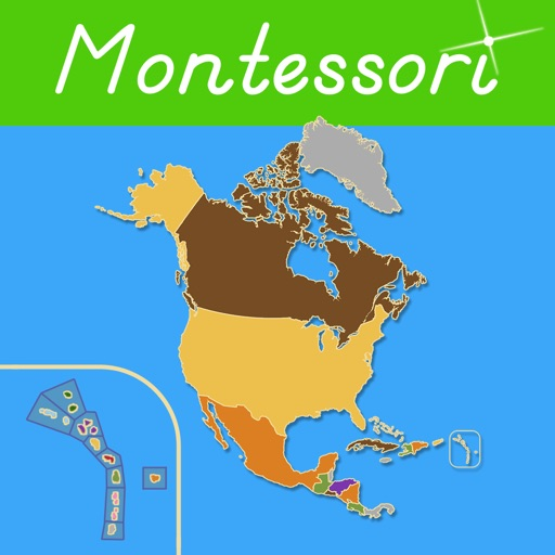 North America - Montessori Approach To Geography