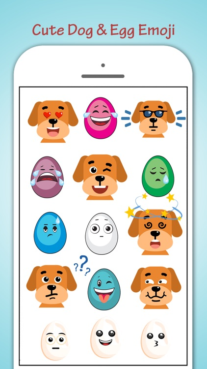 Egg Loving Dogs Emoji screenshot-3