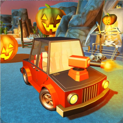 Scary Halloween Shooting Car