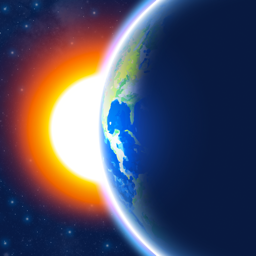 Ícone do app 3D Earth - widget do tempo