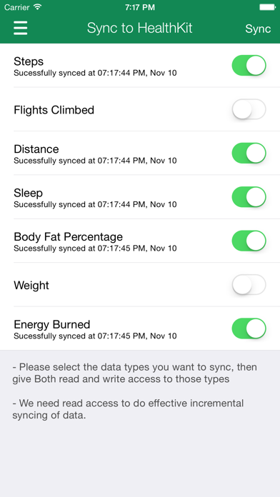 Data Manager for Fitbit Screenshot on iOS