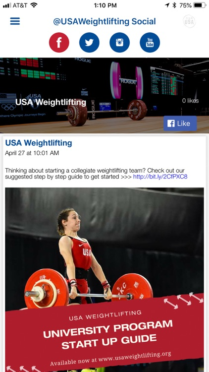 USA Weightlifting App by United States Olympic Committee