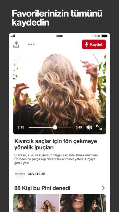 Screenshot for Pinterest in Turkey App Store