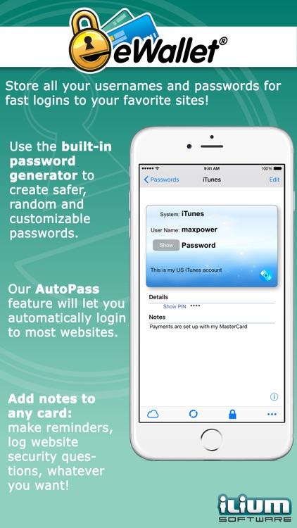 eWallet - Password Manager screenshot-3
