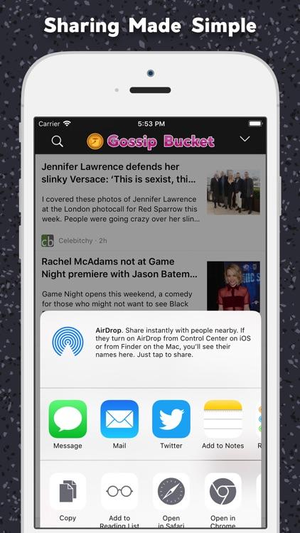 Gossip Bucket Celebrity News screenshot-4