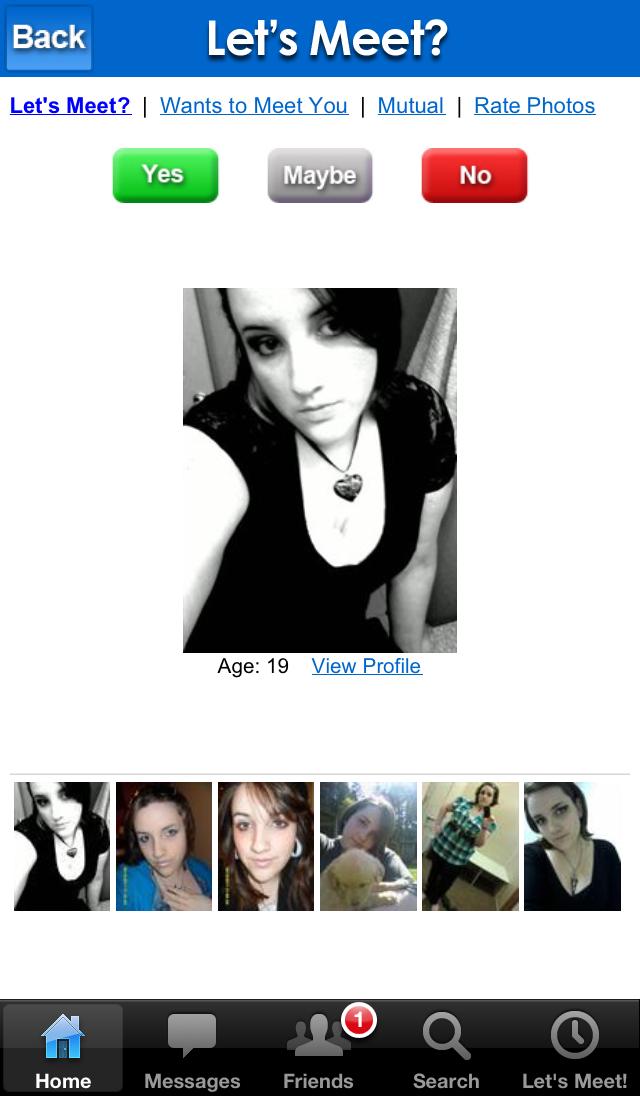 DateHookup Dating Singles Chat Screenshot