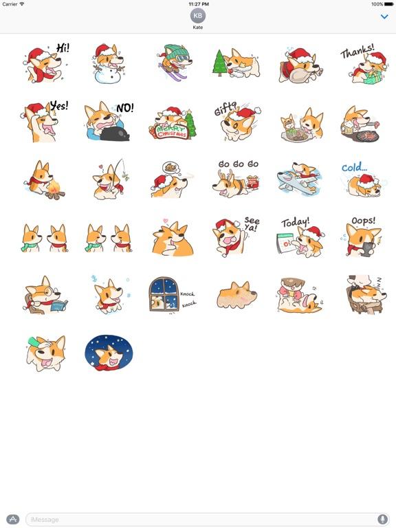 Merry Xmas Corgi Dog Sticker screenshot 4