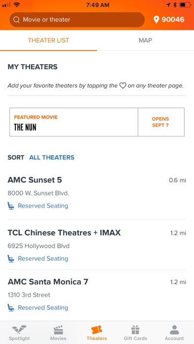 Fandango - Showtimes + Tickets for Windows